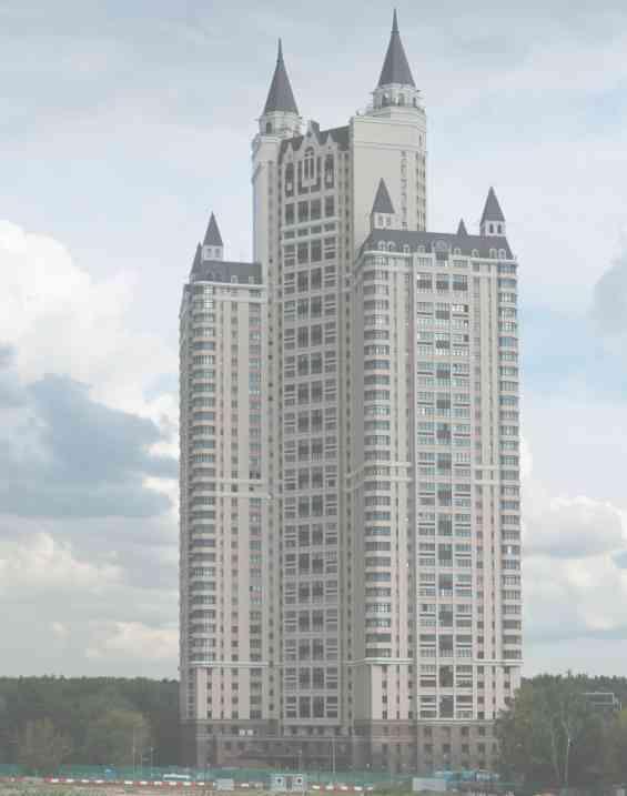 Район Фили Давыдково. 43-х этажный небоскреб