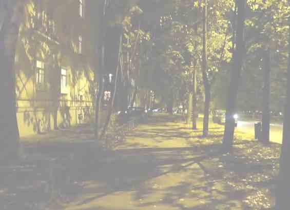 Москва Кунцевская улица в вечернее время