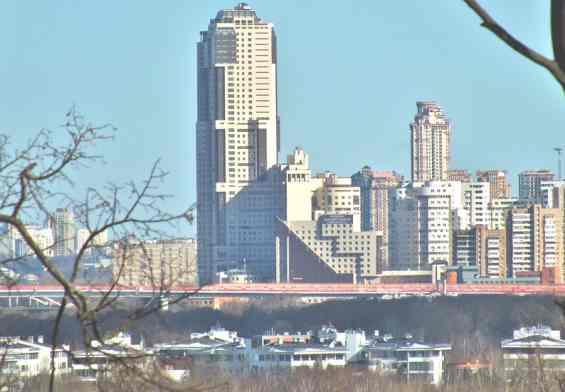 Москва. Панорама с Филевского парка