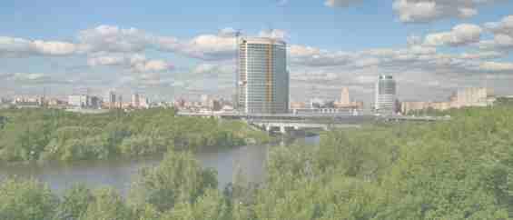 Вид на Москва Сити с ул Кульнева